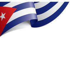 Cuba flag on a white vector