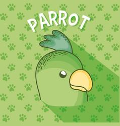 Cute parrot cartoon vector
