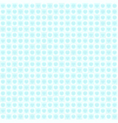 cyan heart pattern with dots and squares seamless vector image