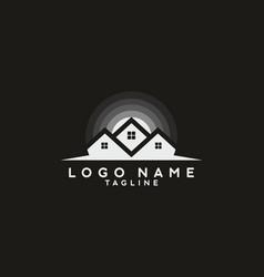 dark color house logo vector image
