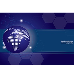 Digital Technology Global Background vector image