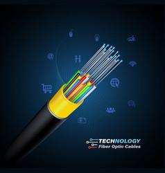 Fiber optic cable vector