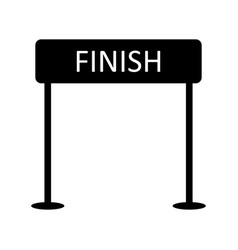 Finish icon vector