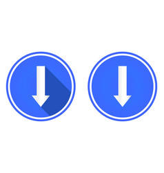 flat icon down arrow arrow button vector image