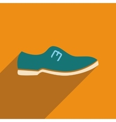 Flat icon with long shadow mens shoes vector