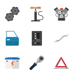 flat icon workshop set of ratchet belt vector image