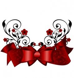 Floral ribbon vector