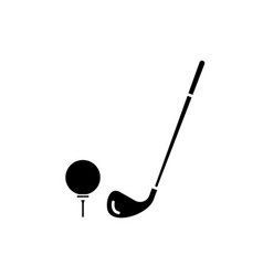 golf club black icon sign on isolated vector image