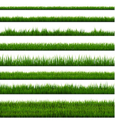 Grass border collection vector