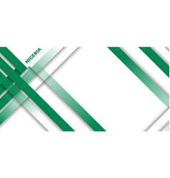 Green geometric background design nigeria vector