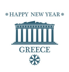 Greeting Card Greece vector image