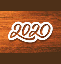 happy new year 2020 vintage card vector image
