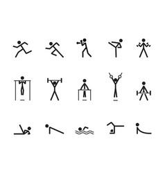 Icon athlete vector