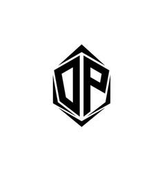 initial dp logo design initial dp logo design vector image