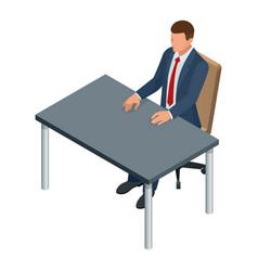 isometric businessman isolated on write creating vector image