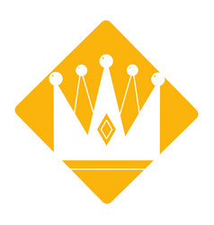 Label nice crown of king to glory and pawer vector