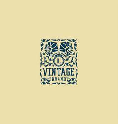 Letter l vintage logo design vector