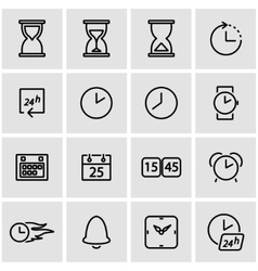 line time icon set vector image
