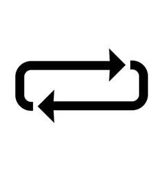 loop glyph black icon vector image