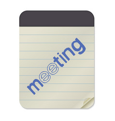 meeting - lettering notebook template vector image