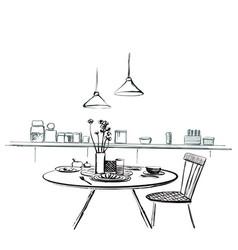modern interior cozy bar restaurant vector image