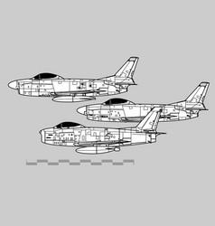 north american f-86 sabre vector image
