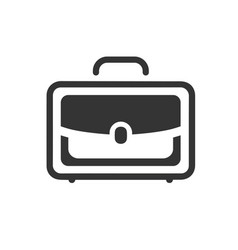 Office bag icon vector