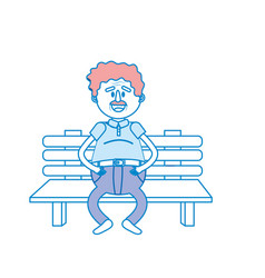 old man in the chair with hairstyle vector image
