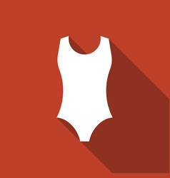 One piece swimsuit icon vector
