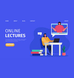 Online training lectures vector