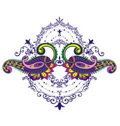 paisley element for your design vector image