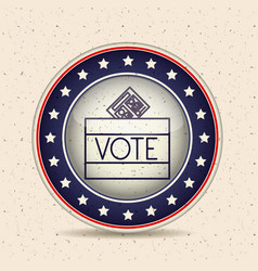 paper and box inside button of vote concept vector image