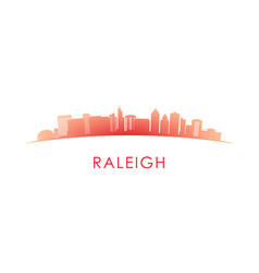 Raleigh skyline silhouette design colorful vector