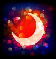 ramadan kareemwords and half moon vector image