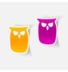 realistic design element owl vector image
