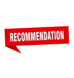 Recommendation speech bubble recommendation vector