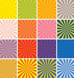 retro background set vector image
