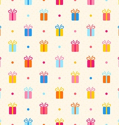 Seamless pattern with multicolor gifts vector image
