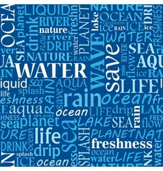 Seamless water tags cloud vector