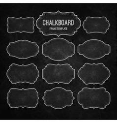 set chalkboard frames and labels vector image