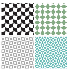Set of geometric square seamless pattern vector