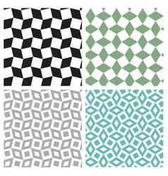 set of geometric square seamless pattern vector image