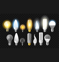 Set of light bulbs - realistic isolated vector