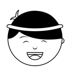 shepherd manger character icon vector image