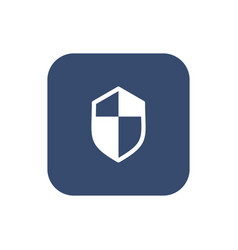 shield icon flat design vector image