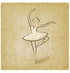 sketch ballet posture dancing studio symbol vector image