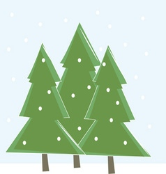 Snowing Trees vector image