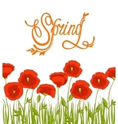 spring flower background spring background vector image