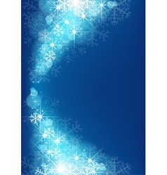 Starry Xmas Background vector image