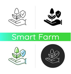 Sustainable agriculture icon vector
